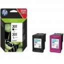 PACK TINTA HP 301 NEGRO+COLOR
