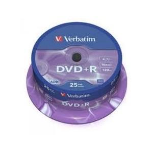 Pack 25 dvd´s Verbatim +R