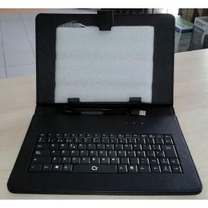 """Funda Tablet 10"""" con Teclado Negra"""