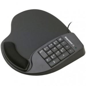 Alfombrilla con reposamuñezas y teclado numérico USB SOYNTEC