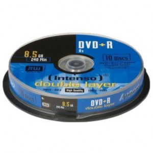 Pack 10 dvd´s Intenso Doble Capa +R
